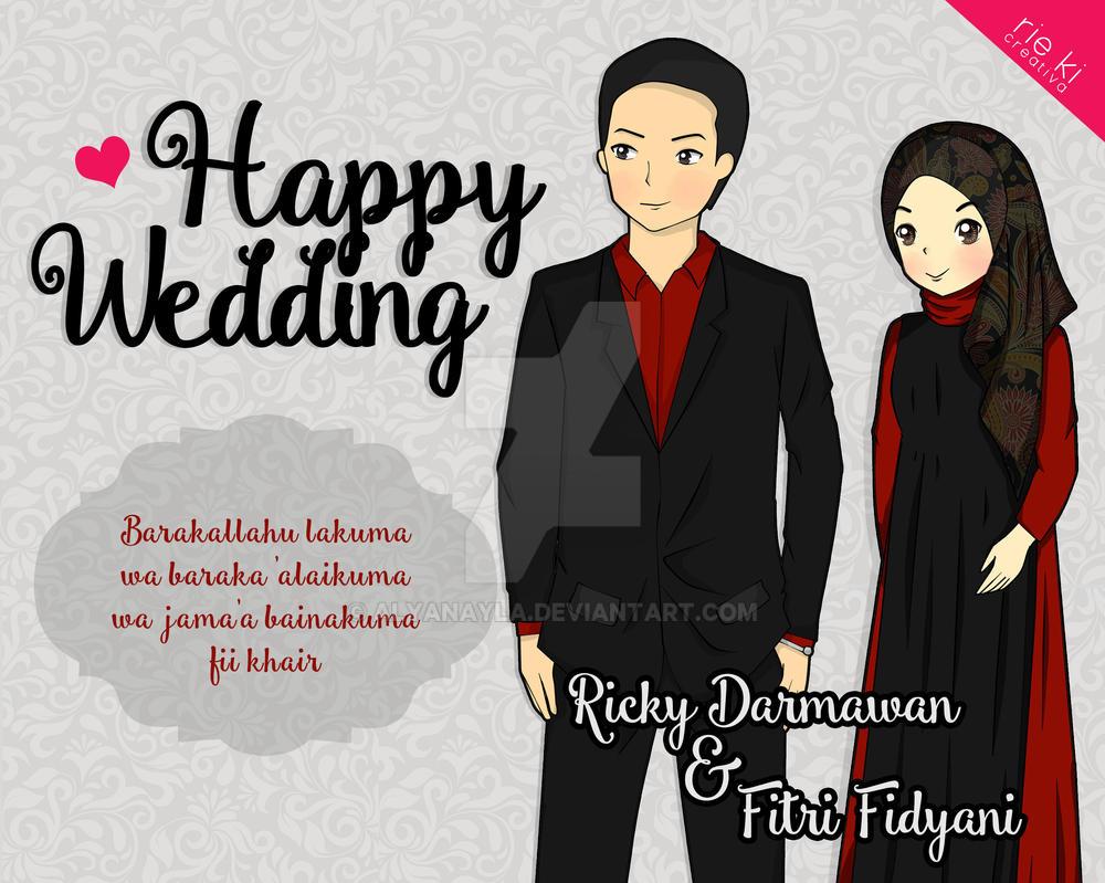 Happy Wedding black-red by alyanayla