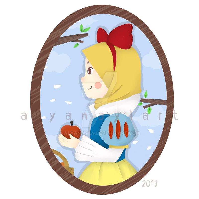Snow White Hijab by alyanayla