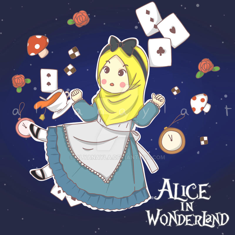 Alice in Wonderland Hijab by alyanayla