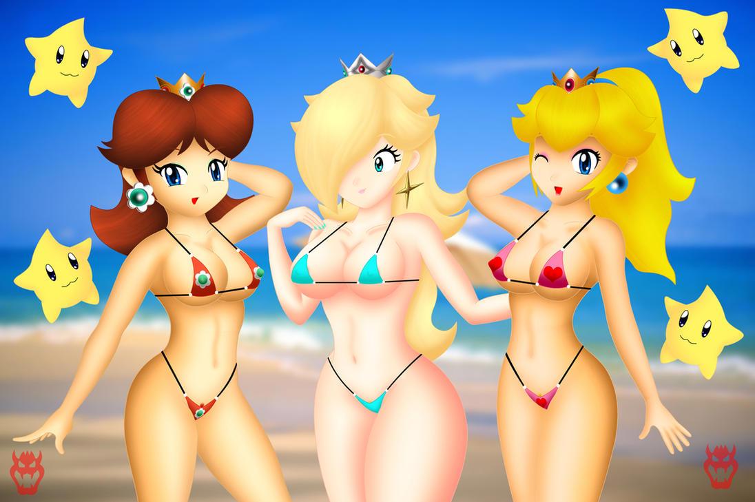 Peach Daisy Rosalina Naked