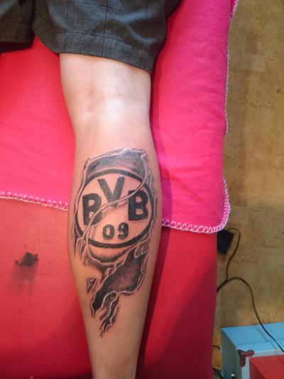football tattoo bvb dortmund by jokerspalace on deviantart. Black Bedroom Furniture Sets. Home Design Ideas