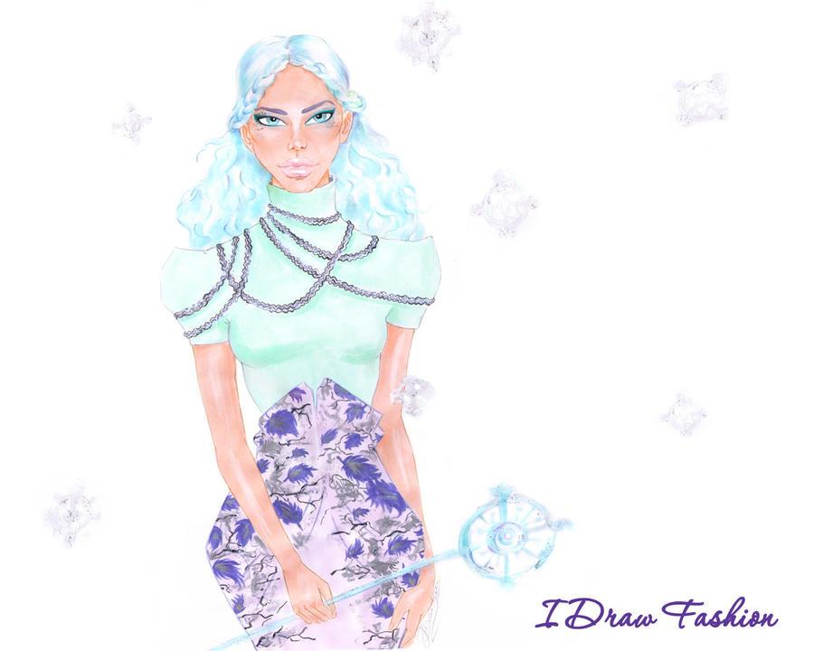 Fashion Illustration Calendar : Fashion illustration calendar jan by idrawfashion on