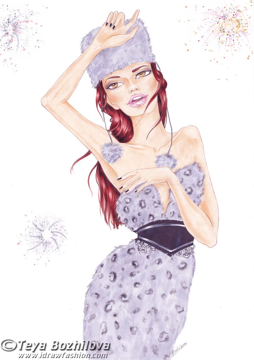 Fashion Illustration Calendar : Fashion illustration calendar feb by idrawfashion on