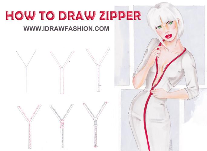 how to draw zipper anime