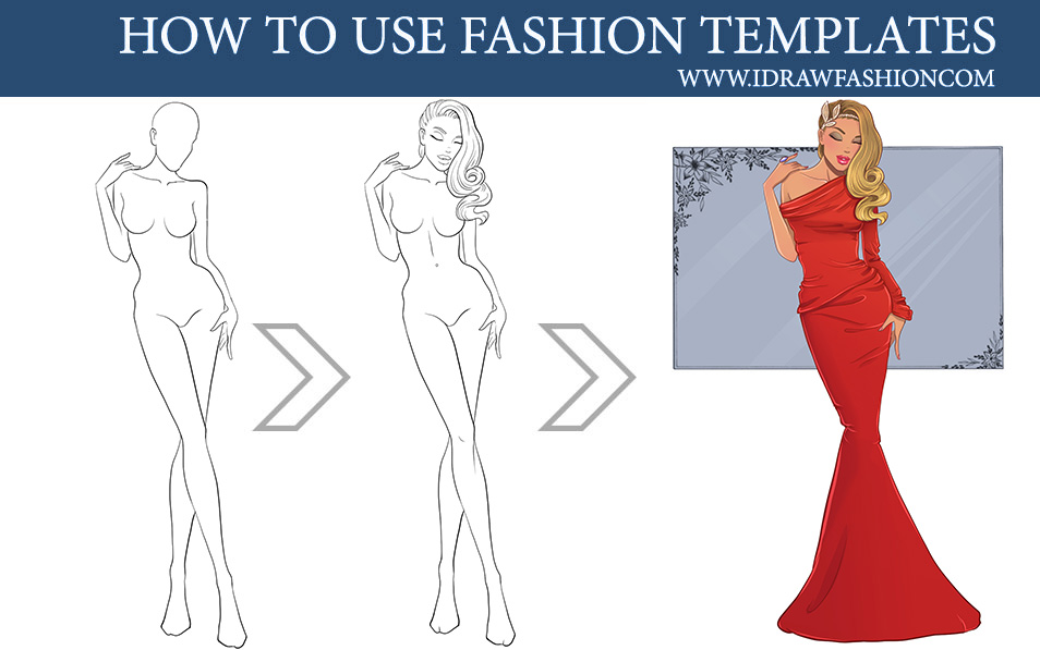 How To Use Fashion Templates Step By Step By Idrawfashion On Deviantart