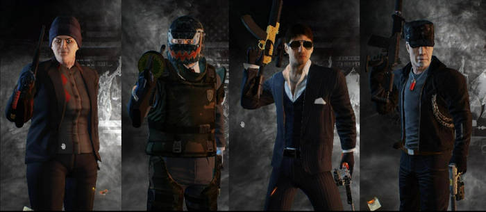 Wolfkeen And His Crew (Payday 2) by Keeneye47