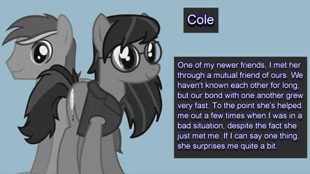 Confidant: Cole
