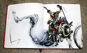 Quijote cyberpunk by HenryDiaz