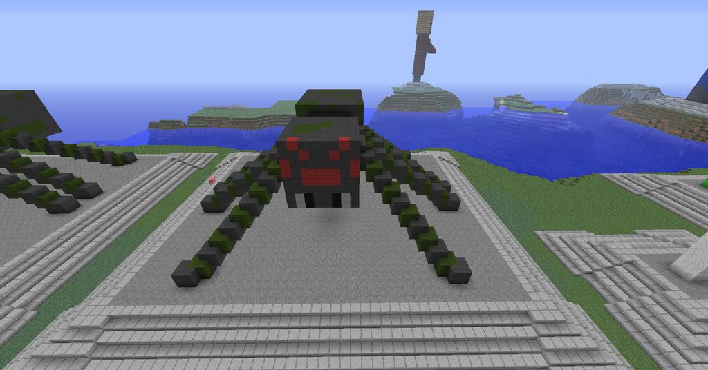Spider Statue Minecraft Spider Statue b...