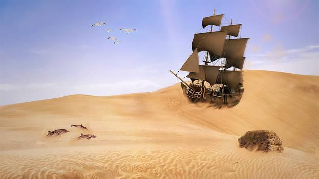A Ship On A Sea Of Sand