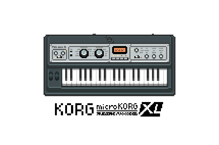 Pixel microKORG XL by nevardaed