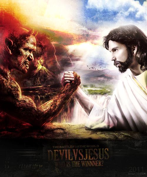 Devil Vs Jesus By Magic7-GFX On DeviantArt