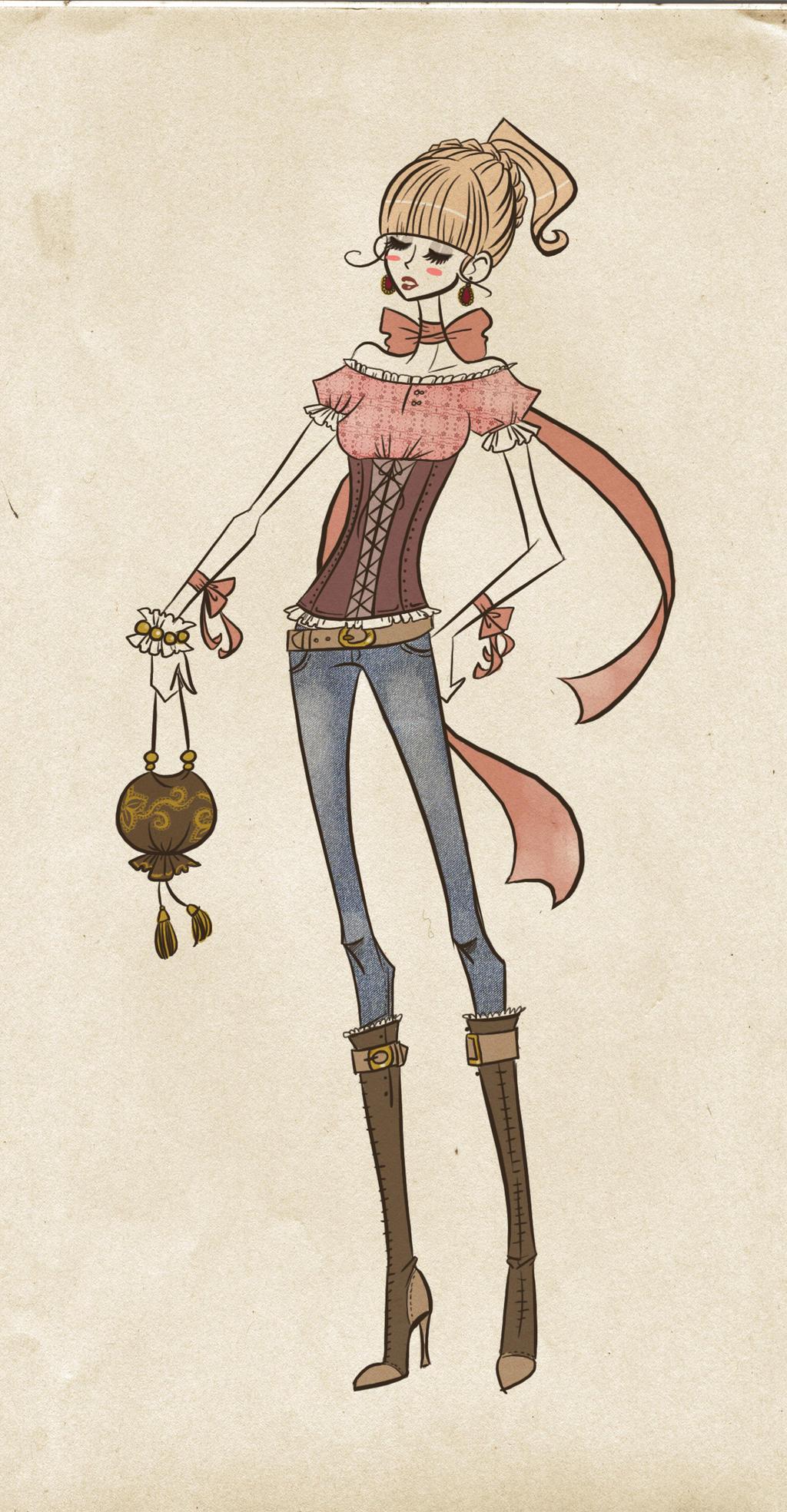 Fashion Sketch by Oh-Ninona