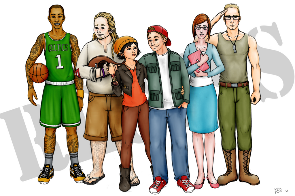 Cartoon Characters 30 Years Later : The recess gang by just ao on deviantart