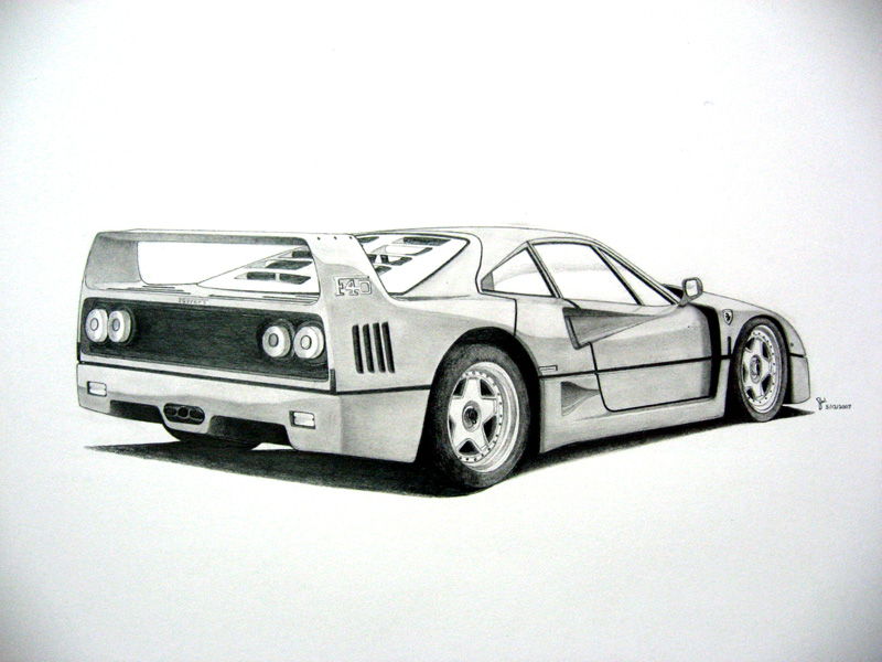 -Ferrari F40- by under18carbon