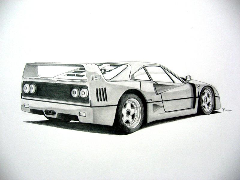 -Ferrari F40- by under18carbon