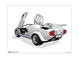 Lamborghini Countach 5000QV by under18carbon