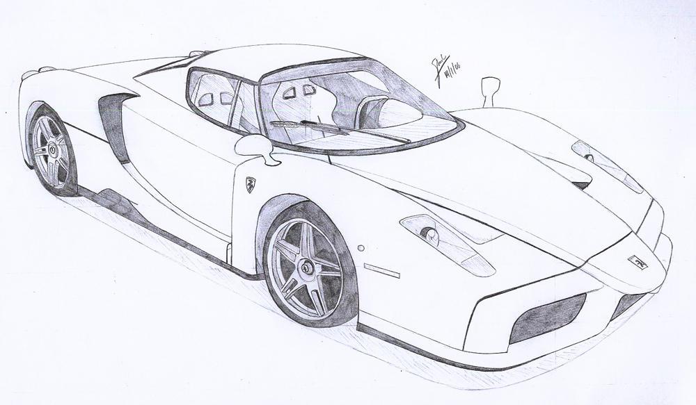 enzo ferrari wallpapers. -Enzo Ferrari- by ~under18carbon on deviantART
