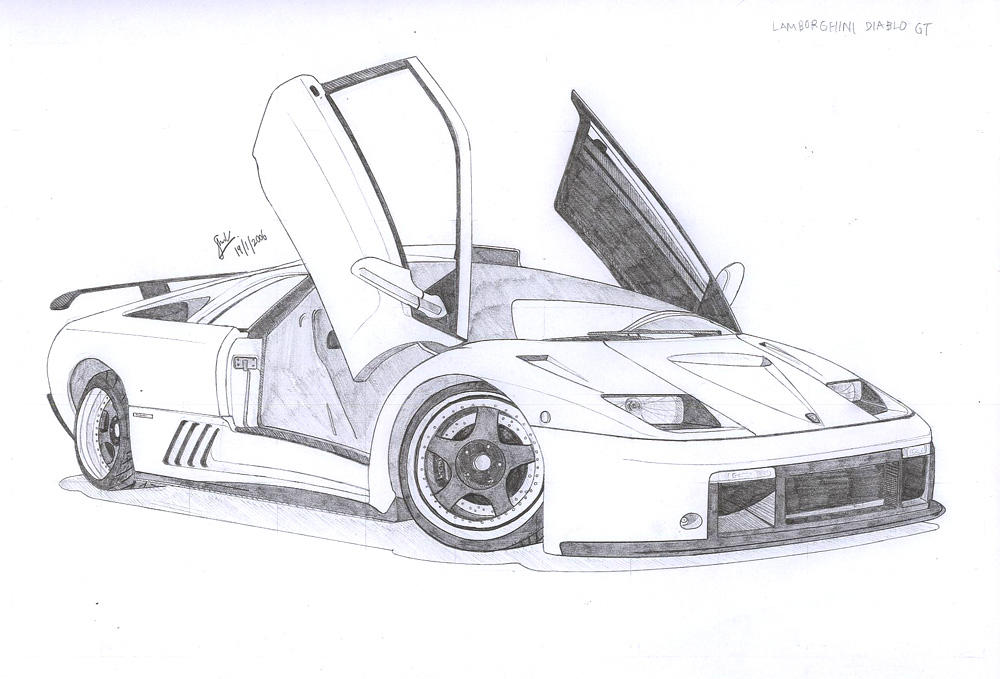 lamborghini veneno drawing sketch templates