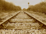 Right Down The Line - Sepia