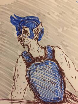 Orc pen sketch