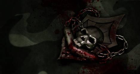 Skull Chain Badge