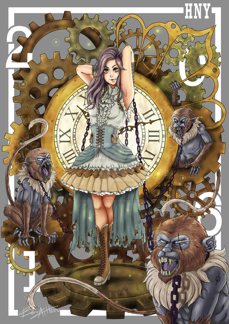 The Monkeys' Clockwork by Maru-Benz-Aihere