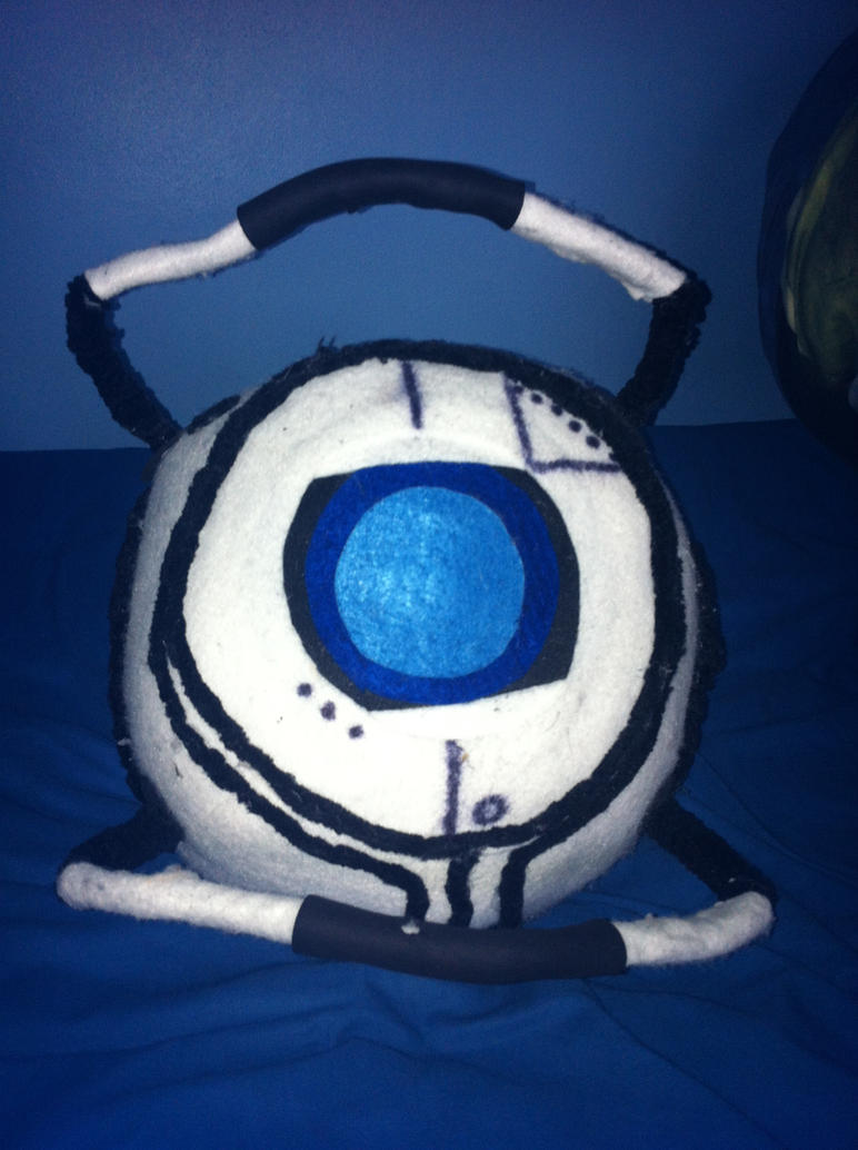 Portal 2 Wheatley Plushie by myjamjar