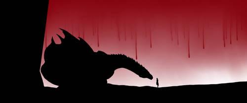 Jon and Drogon by fullm3nu