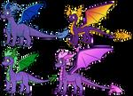 PURPLE BOYS by Spyro-Solstice