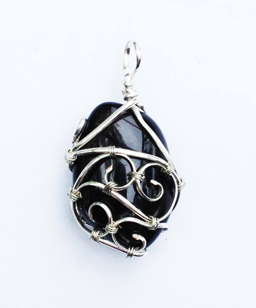 Reversible Wire Wrapped Apache Teardrop Pendant by FaerieForgeDesign ...