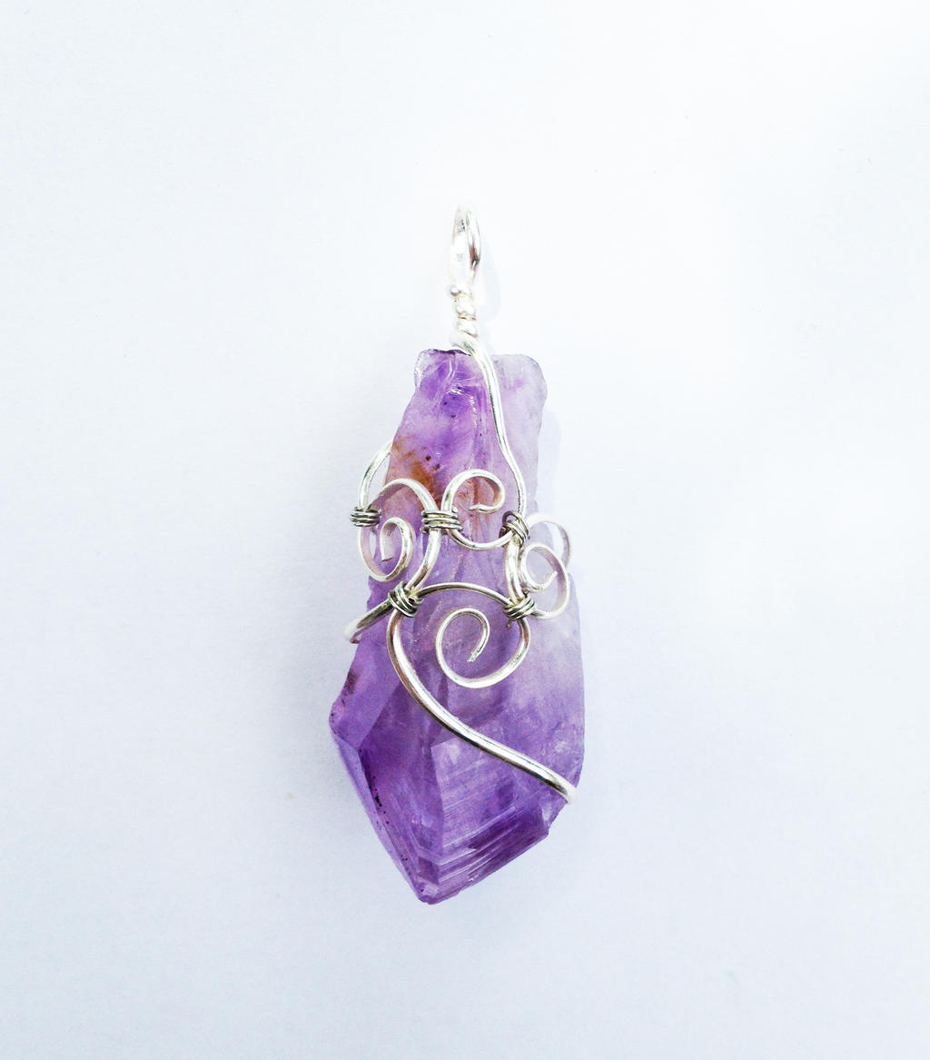 Wire wrapped amethyst crystal point pendant by faerieforgedesign on faerieforgedesign wire wrapped amethyst crystal point pendant by faerieforgedesign aloadofball Gallery