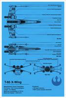X-Wing Blueprint - Star Wars by Euskera