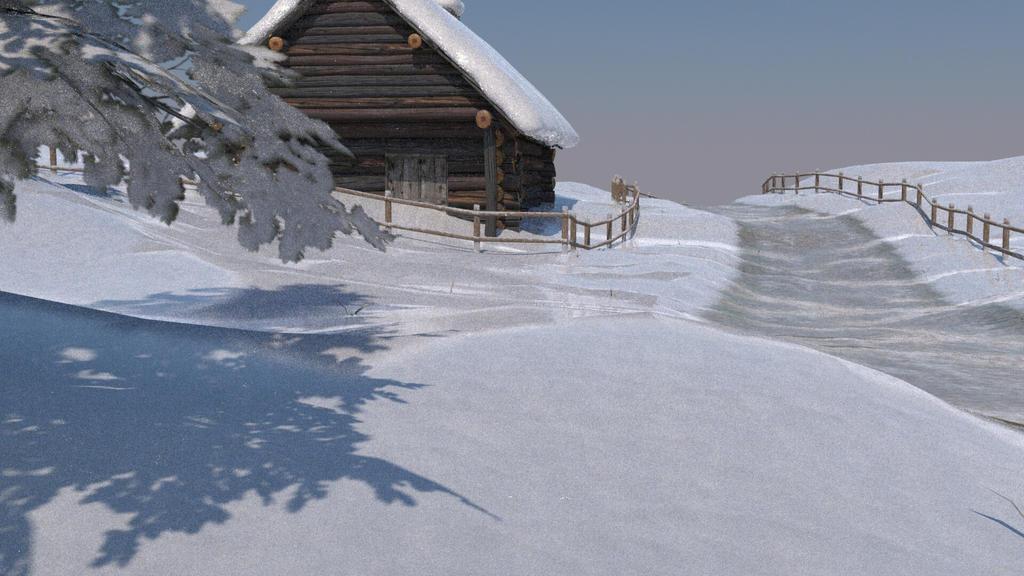 Log Cabin (WIP) by barefootuptomysoul