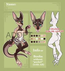 SALE Adopt AUCTION Kangaroo. CLOSED!!! by DragonFoxAdopts