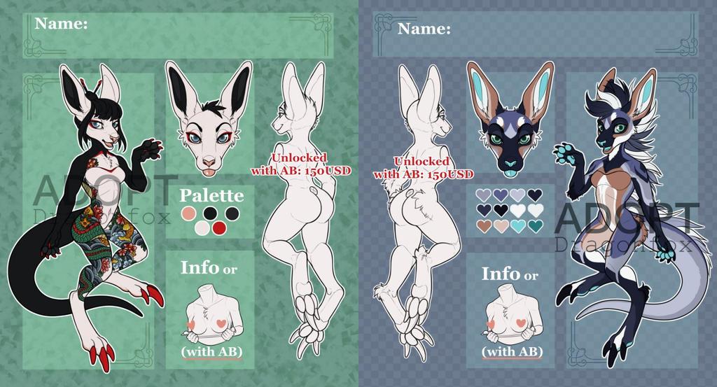 SALE Adopt|AUCTION Girls kangaroo. OPEN!!! by DragonFoxAdopts