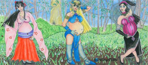 SEGA Saturn Sexy Ladies Triptych by Shinto-Cetra