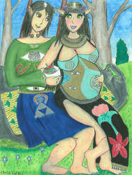 Expecting Klimt-Inspired Elves by Shinto-Cetra