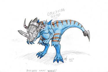 Greymon - Digimon Xros Wars by Steff-Magalhaes
