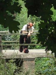 Faun on a bridge by KikiMcCloud