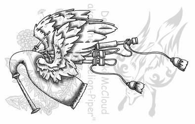 Wingend Bagpipe by KikiMcCloud