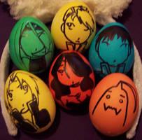 Full Metal Alchemist eggs- by shiabunny
