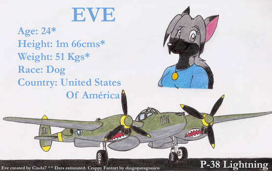 Eve and her P-38 X3