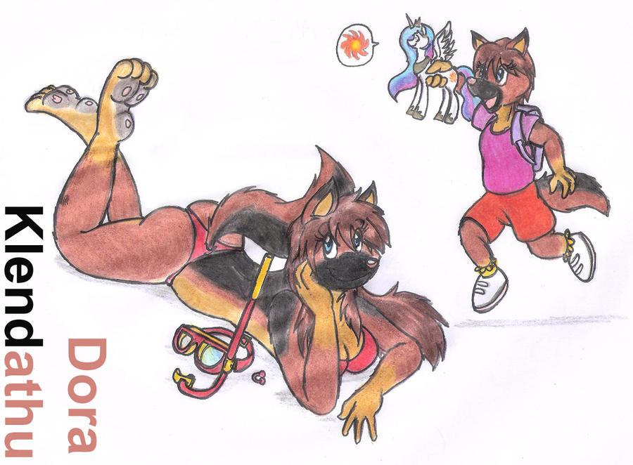 Dora Age 4 XD by DingoPatagonico