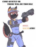 Dora capturing some criminals by DingoPatagonico