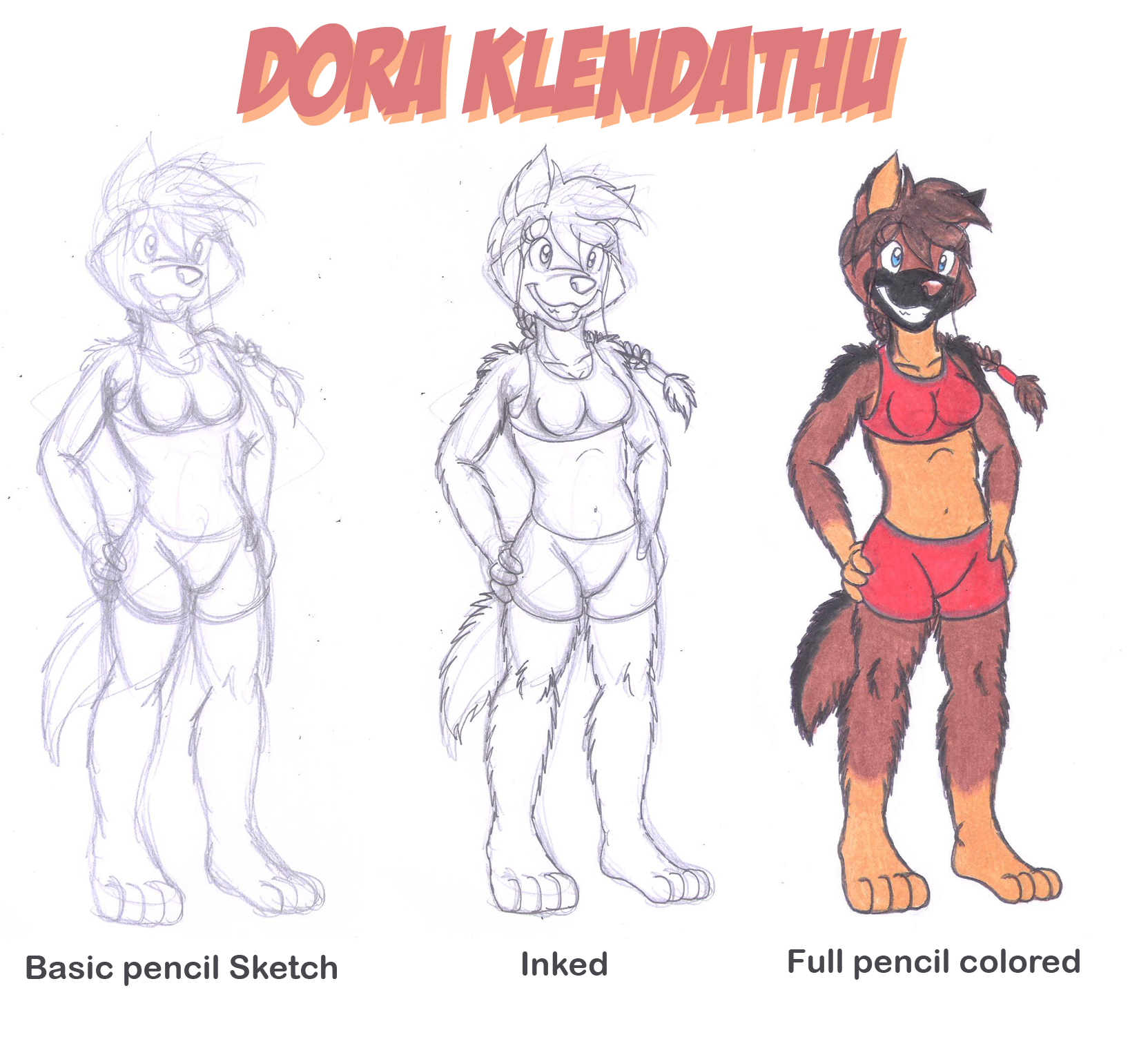 Dora Full Body Sample Reference By Dingopatagonico On Deviantart