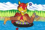 A Playfull Big Tiger having fun_Colored