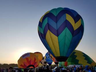 Hot Air Balloon at Dawn by Thalea