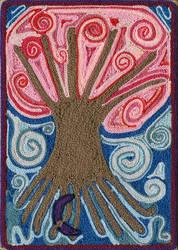 Tree of Life Yarn Painting