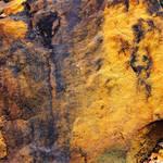 fresh broken sandstone